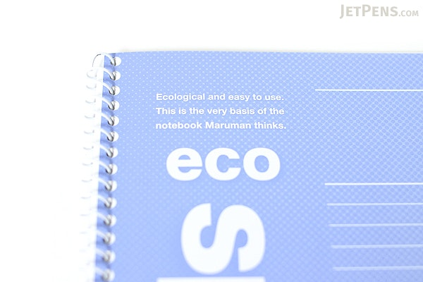 "Maruman Eco Spiral Notebook - B5 (6.9"" X 9.8"") - 6 mm Rule - 37 Lines X 30 Sheets - Blue - Bundle of 10 - MARUMAN N901-02 BUNDLE"