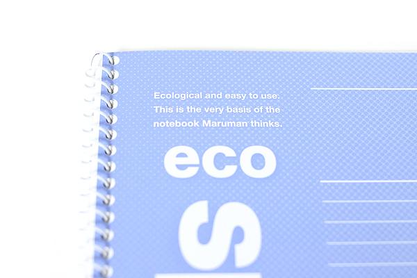 Maruman Eco Spiral Notebook - B5 - 6 mm Rule - Blue - MARUMAN N901-02