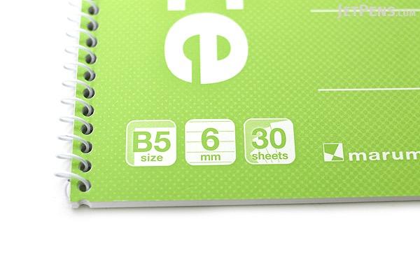 Maruman Eco Spiral Notebook - B5 - 6 mm Rule - Green - MARUMAN N901-03