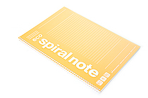 Maruman Eco Spiral Notebook - B5 - 6 mm Rule - Orange - MARUMAN N901-09