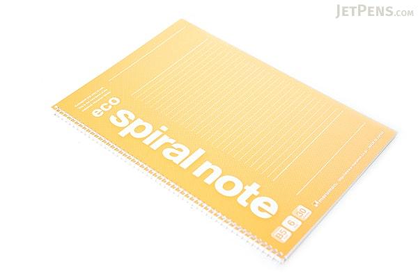 Maruman Eco Spiral Notebook - B5 - 6 mm Rule - Orange - MARUMAN N901-09