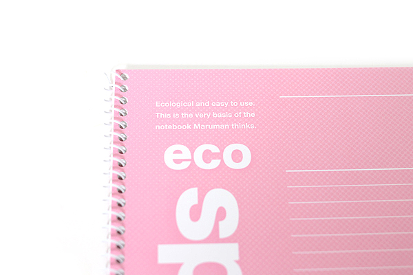 Maruman Eco Spiral Notebook - B5 - 6 mm Rule - Pink - MARUMAN N901-08
