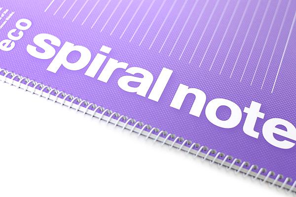 Maruman Eco Spiral Notebook - B5 - 7 mm Rule - Purple - MARUMAN N900-10