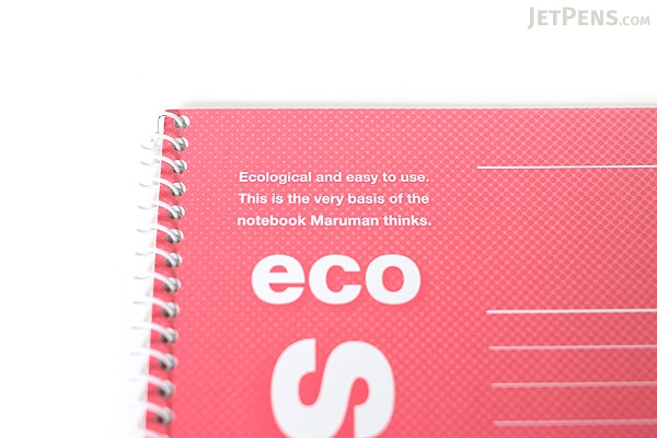 Maruman Eco Spiral Notebook - B5 - 7 mm Rule - Red - MARUMAN N900-01