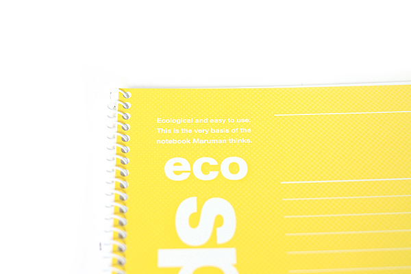 Maruman Eco Spiral Notebook - B5 - 7 mm Rule - Yellow - MARUMAN N900-04