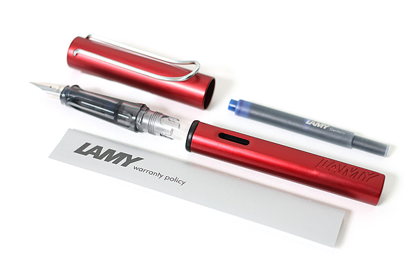 Lamy Al-Star Fountain Pen - Fine Nib - Ruby Red Body - Limited Edition - LAMY L21F