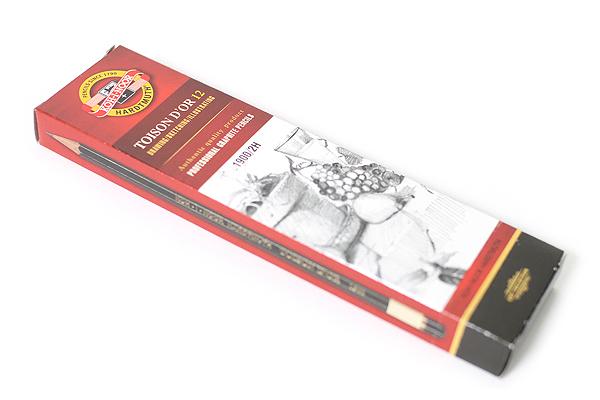 Koh-I-Noor Toison D'or Graphite Pencil - 2H - Pack of 12 - KOH-I-NOOR FA1900.2H
