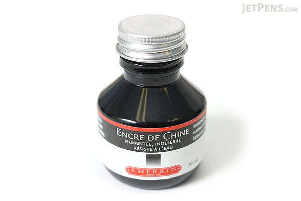 J. Herbin India Ink - Black - for Dip Pen - 50 ml Bottle - J. HERBIN H112/09