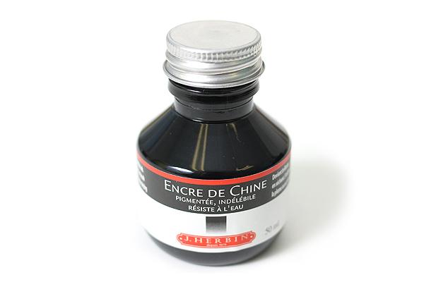 J. Herbin Dip Pen India Ink - 50 ml Bottle - Black - J. HERBIN H112/09