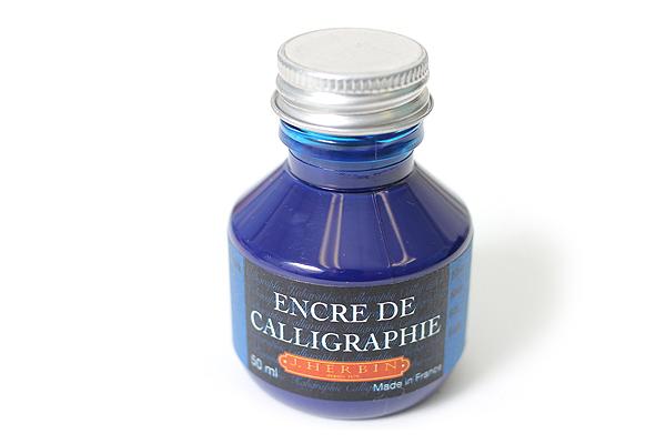 J. Herbin Dip Pen Calligraphy Ink - 50 ml Bottle - Blue - J. HERBIN H114/10