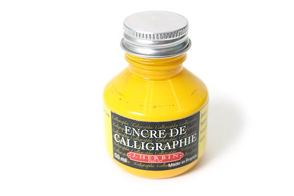 J. Herbin Dip Pen Calligraphy Ink - 50 ml Bottle - Yellow - J. HERBIN H114/50