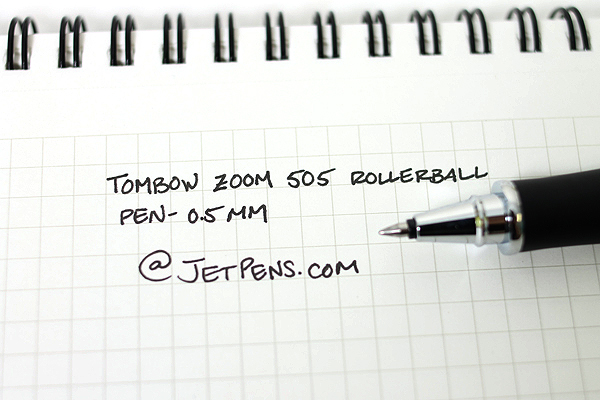 Tombow Zoom 505 Liquid Ink Roller Ball Pen - Limited Edition - 0.5 mm - Azure Blue Body - Black Ink - TOMBOW BW-2000LZA42