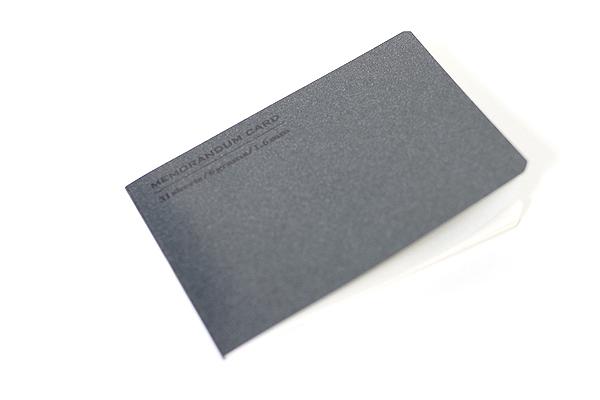 """Midori Memorandum Card - 2.25"""" X 3.33"""" Blank - 31 Sheets - Black - MIDORI 230825"""