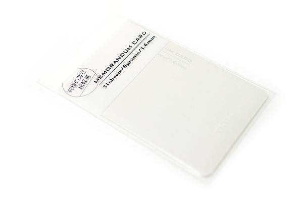 "Midori Memorandum Card - 2.25"" X 3.33"" Blank - 31 Sheets - White - MIDORI 230826"