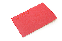 "Midori Memorandum Card - 2.25"" X 3.33"" Blank - 31 Sheets - Red - MIDORI 230827"