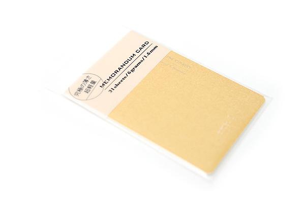 "Midori Memorandum Card - 2.25"" X 3.33"" Blank - 31 Sheets - Yellow - MIDORI 230830"