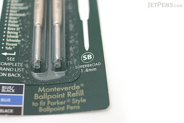 Monteverde One Touch Original Ballpoint Pen Refill - 1.4 mm - Blue - Pack of 2 - MONTEVERDE P152BU