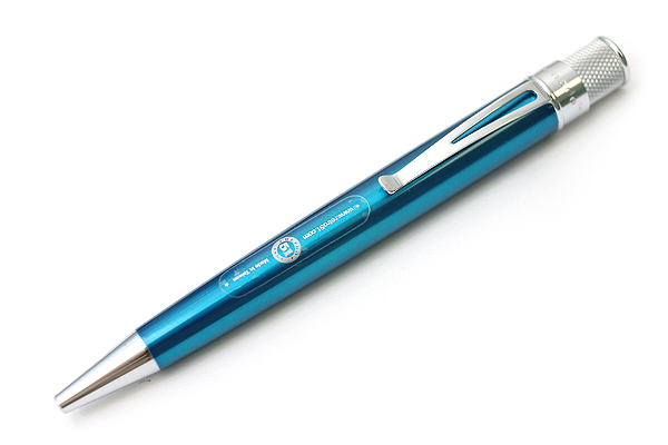 Retro 51 Tornado Classic Lacquers Rollerball Pen - 0.7 mm - Peacock Blue Body - RETRO 51 VRR-1309