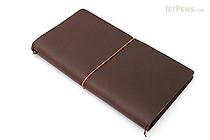 "Pelle Leather Journal - Brown - Large + 1 Plain Linen Paper Notebook (4.3"" X 8.3"") Insert - 64 Pages - PELLE LJ L"