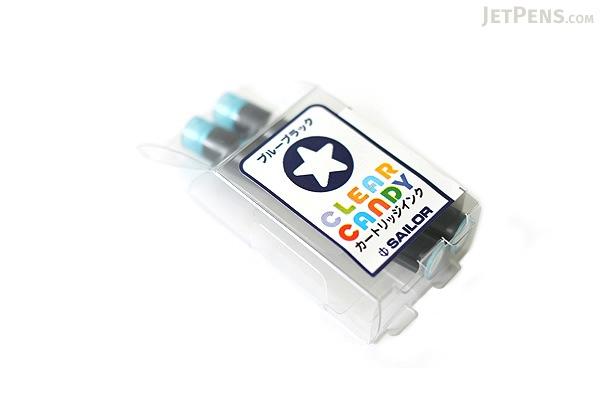 Sailor Clear Candy Blue Black Ink - 2 Cartridges - SAILOR 13-0113-144
