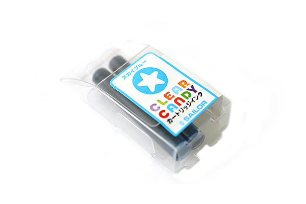 Sailor Clear Candy Fountain Pen Ink Cartridge - Sky Blue - Pack of 2 - SAILOR 13-0113-141