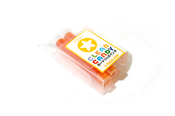 Sailor Clear Candy Fountain Pen Ink Cartridge - Yellow - Pack of 2 - SAILOR 13-0113-170