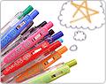Colorful array of Zebra Sarasa Push Clip Gel Pens - 0.4 mm