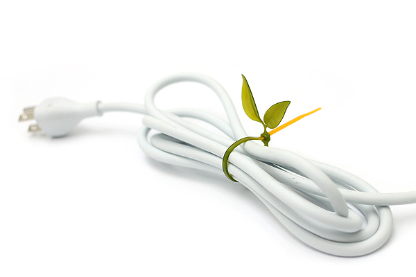 Leaf Tie Cable Organizer - Reindeer White - Pack of 12 - LEAF TIE REINDEER