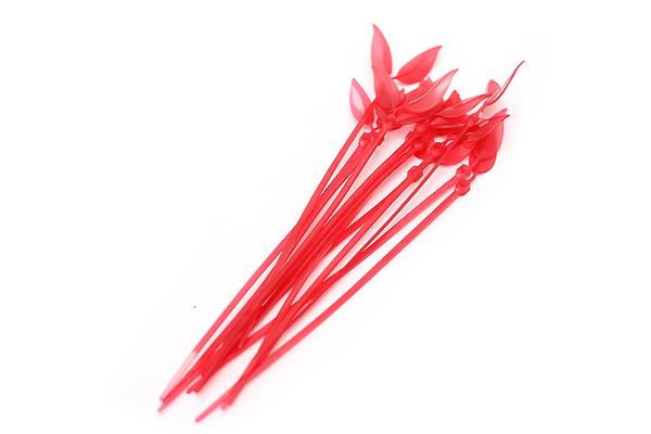 Leaf Tie Cable Organizer - Scarlet Red - Pack of 12 - LEAF TIE SCARLET