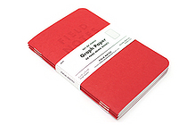 "Field Notes Color Cover Memo Book - Red Blooded - 3.5"" X 5.5"" - 48 Pages - 5 mm Graph - Pack of 3 - FIELD NOTES FNRB-01"