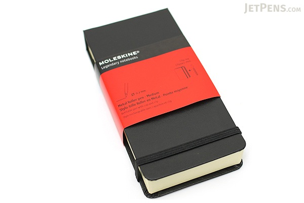 Moleskine Metal Roller Pen - 0.7 mm - Matte Gray Body - Black Gel Ink