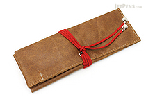 PlePle Choco Pencil Case - Red Lining - PLEPLE CHOCO RED