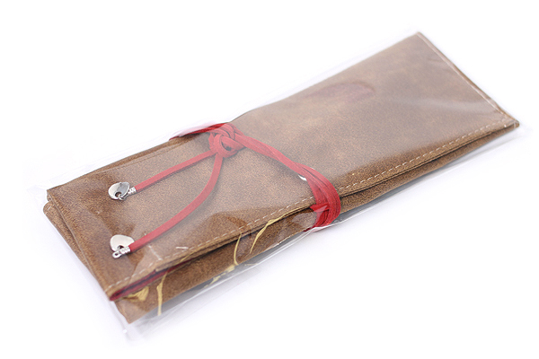 PlePle Choco Pencil Case - Red Lining - PLEPLE CHOCO RED