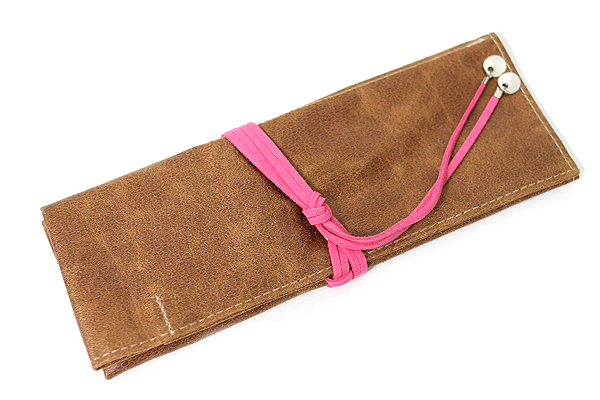 PlePle Choco Pencil Case - Hot Pink Lining - PLEPLE CHOCO HOT PINK