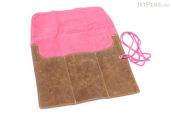PlePle Choco Pencil Case - Hot Pink Lining - PLEPLE CHOCO HOT PINK