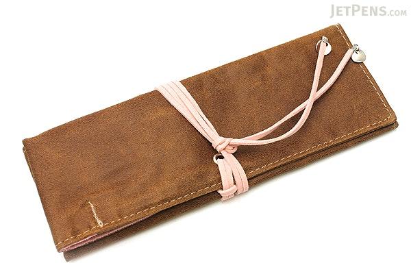 PlePle Choco Pencil Case - Baby Pink Lining - PLEPLE CHOCO BABY PINK