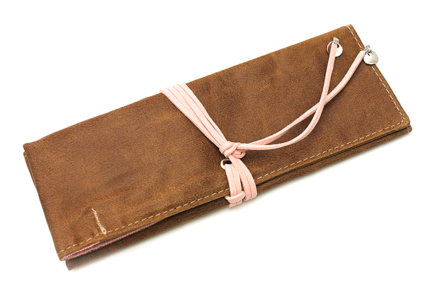 PlePle Choco Pencil Case - Baby Pink Lining - PLEPLE CHOCO BABY PINK