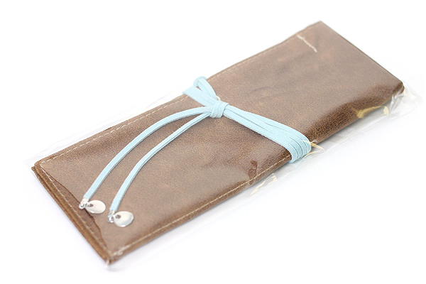 PlePle Choco Pencil Case - Sky Blue Lining - PLEPLE CHOCO SKY BLUE