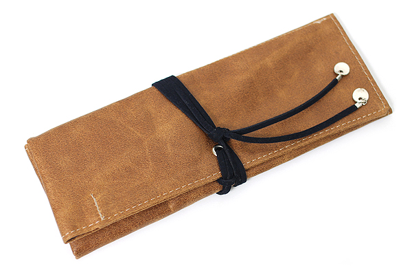 PlePle Choco Pencil Case - Navy Lining - PLEPLE CHOCO NAVY