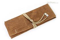 PlePle Choco Pencil Case - Beige Lining - PLEPLE CHOCO BEIGE