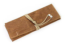 PlePle Choco Pencil Case - Beige Lining - PLEPLE CHOCO BEIGE