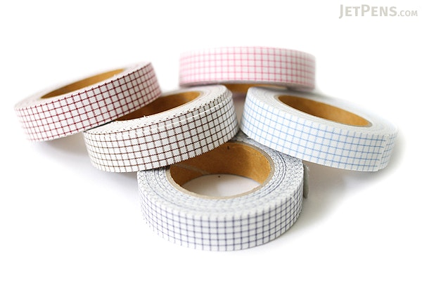 Dailylike Fabric Tape - Line Check - Brown