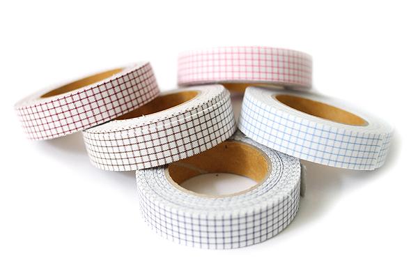 Dailylike Fabric Tape - Line Check - Brown - DAILYLIKE DFTC12