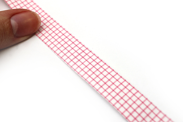 Dailylike Fabric Tape - Line Check - Pink - DAILYLIKE DFTC10