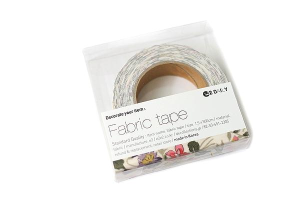 Dailylike Fabric Tape - Wild Flower - Ivory - DAILYLIKE DFTF02