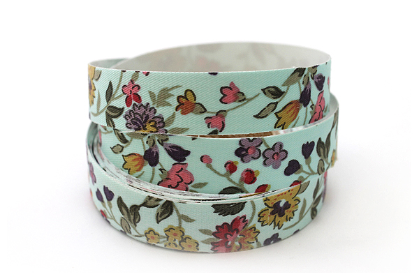 Dailylike Fabric Tape - Wild Flower - Sky Blue