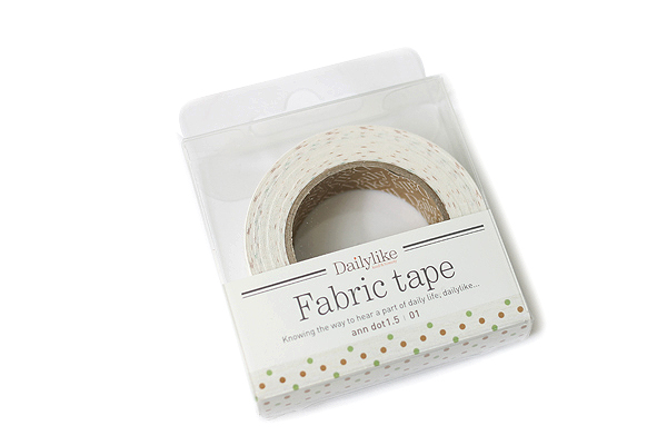 Dailylike Fabric Tape - Ann Dot 1.5 - 01 - DAILYLIKE DFTD06