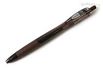 Zebra Surari Emulsion Ink Pen - 0.7 mm - Dark Brown Body - Black Ink - ZEBRA BN11-DE