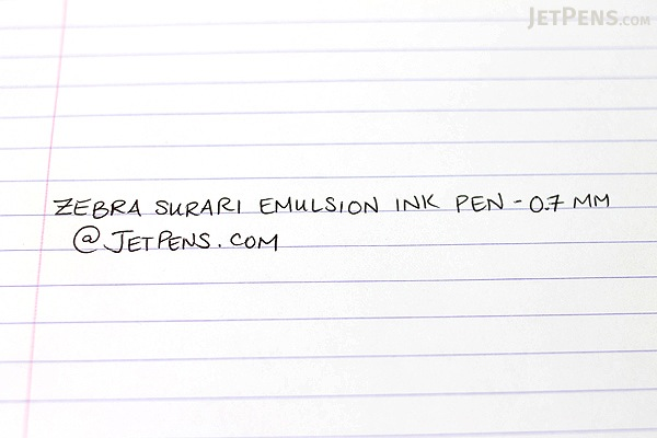 Zebra Surari Emulsion Ink Pen - 0.7 mm - Navy Body - Black Ink - ZEBRA BN11-NV