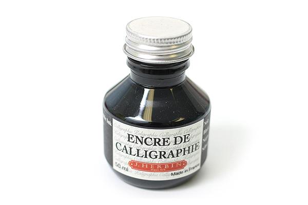 J. Herbin Dip Pen Calligraphy Ink - 50 ml Bottle - Black - J. HERBIN H114/09